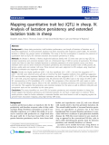 "Báo cáo sinh học: "" Mapping quantitative trait loci (QTL) in sheep. IV. Analysis of lactation persistency and extended lactation traits in sheep"""