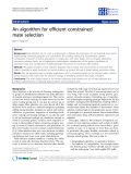 "Báo cáo sinh học: "" An algorithm for efficient constrained mate selection Brian P Kinghorn"""