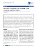 """Báo cáo sinh học: """"Inferring causal phenotype networks using structural equation models"""""""