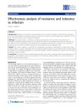"Báo cáo sinh học: ""Effectiveness analysis of resistance and tolerance to infection"""