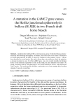 "Báo cáo sinh học: ""A mutation in the LAMC2 gene causes the Herlitz junctional epidermolysis bullosa (H-JEB) in two French draft horse breeds"""