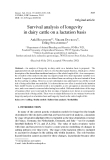 "Báo cáo sinh học: "" Survival analysis of longevity in dairy cattle on a lactation basis"""