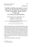 "Báo cáo sinh học: "" Likelihood and Bayesian analyses reveal major genes affecting body composition, carcass, meat quality and the number of false teats in a Chinese European pig line"""
