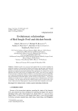 "Báo cáo sinh học: ""Evolutionary relationships of Red Jungle Fowl and chicken breeds"""