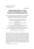 "Báo cáo sinh học: "" Estimating the frequency of Asian cytochrome B haplotypes in standard European and local Spanish pig breeds"""