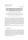 "Báo cáo sinh học: "" Bootstrapping of gene-expression data improves and controls the false discovery rate of differentially expressed genes"""
