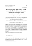 """Báo cáo sinh học: """" Genetic variability of the pattern of night melatonin blood levels in relation to coat changes development in rabbits"""""""