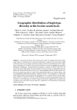 "Báo cáo sinh học: ""Geographic distribution of haplotype diversity at the bovine casein locus"""