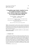 """Báo cáo sinh học: """"Computing approximate standard errors for genetic parameters derived from random regression models fitted by average information REML"""""""