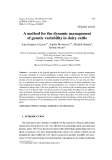 """Báo cáo sinh học: """" A method for the dynamic management of genetic variability in dairy cattle"""""""