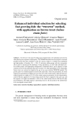 """Báo cáo sinh học: """" Enhanced individual selection for selecting fast growing fish: the """"PROSPER"""" method, with application on brown trout (Salmo trutta fario)"""""""