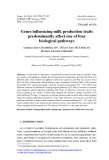 "Báo cáo sinh học: "" Genes influencing milk production traits predominantly affect one of four biological pathways"""