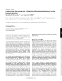 """Báo cáo y học: """"Large-scale discovery and validation of functional elements in the human genome"""""""
