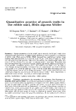 "Báo cáo sinh học: ""Quantitative genetics of growth traits in the """