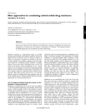 "Báo cáo y học: ""New approaches to combating antimicrobial drug resistance"""