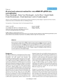 """Báo cáo y học: """"A novel and universal method for microRNA RT-qPCR data normalization"""""""
