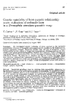 """Báo cáo sinh học: """" Genetic variability of host-parasite relationship traits: utilization of isofemale lines in a Drosophila simulans parasitic wasp"""""""