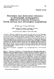 "Báo cáo sinh học: "" Starvation and desiccation tolerance in Drosophila melanogaster: differences between European, North African and Afrotropical populations"""