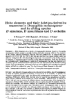 """Báo cáo sinh học: """"Hobo elements and their deletion-derivative sequences in Drosophila melanogaster and its sibling species D simulans, D mauritiana and D sechellia"""""""