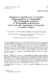 "Báo cáo sinh học: ""Adaptative significance of amylase polymorphism in Drosophila. III. Geographic patterns in Drosophila subobscura tissue-specific expression of amylase in adult midgut"""