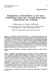 "Báo cáo sinh học: "" Estimation of heritability in the base population when only records from later generations are available"""