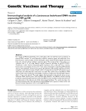 "Báo cáo sinh học: ""Immunological analysis of a Lactococcus lactis-based DNA vaccine expressing HIV gp120"""