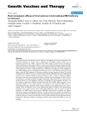"""Báo cáo sinh học: """" Anti-metastatic effects of viral and non-viral mediated Nk4 delivery to tumours"""""""