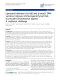 """Báo cáo sinh học: """"Liposomal delivery of p-ialB and p-omp25 DNA vaccines improves immunogenicity but fails to provide full protection against B. melitensis challenge"""""""