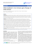 """Báo cáo sinh học: """" AAV2-mediated in vivo immune gene therapy of solid tumours"""""""