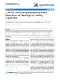 "Báo cáo y học: ""ChIA-PET tool for comprehensive chromatin interaction analysis with paired-end tag sequencing"""