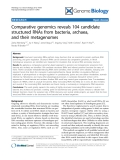 "Báo cáo y học: ""Comparative genomics reveals 104 candidate structured RNAs from bacteria, archaea, and their metagenomes"""