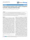 """Báo cáo y học: """"Characterizing regulatory path motifs in integrated networks using perturbational data"""""""