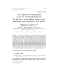 "Báo cáo khoa hoc:""  Development and assignment of bovine-specific PCR systems for the Texas nomenclature marker genes and isolation of homologous BAC probes"""