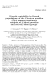 """Báo cáo sinh học: """"Genetic variability in French populations of  the Corsican mouflon (Ovis ammon  musimon): analysis of  2 blood proteins and  red-cell blood groups"""""""