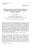 "Báo cáo sinh học: "" Genetic structure of the Marseilles cat population: is there really a strong founder effect ?"""
