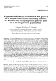 """Báo cáo sinh học: """"Expected efficiency of selection for growth in a French beef cattle breeding scheme. II. Prediction of asymptotic genetic gain in a heterogeneous population"""""""