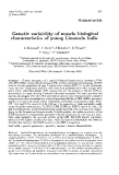 """Báo cáo sinh học: """"Genetic variability of muscle biological characteristics of young Limousin bulls"""""""
