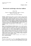 """Báo cáo sinh học: """"Restricted multistage selection indices"""""""