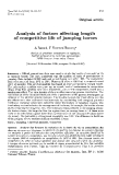 """Báo cáo sinh học: """" Analysis of factors affecting length of competitive life of jumping horses"""""""