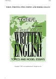 TOEFL WRITING TOPICS AND MODEL ESSAYS - PART 1