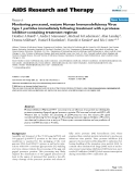 """Báo cáo y học: """" Monitoring processed, mature Human Immunodeficiency Virus type 1 particles immediately following treatme"""""""