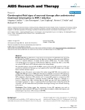 """Báo cáo y học: """"Cerebrospinal fluid signs of neuronal damage after antiretroviral treatment interruption in HIV-1 infectio"""""""