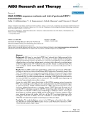 "Báo cáo y học: ""HLA-G DNA sequence variants and risk of perinatal HIV-1 transmission"""