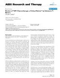 "Báo cáo y học: "" Review of ""HIV Chemotherapy: a Critical Review"" by Salvatore T. Butera"""
