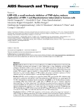 "Báo cáo y học: ""LMP-420, a small-molecule inhibitor of TNF-alpha, reduces replication of HIV-1 and Mycobacterium tuberculosis in human cell"""
