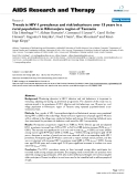 """Báo cáo y học: """"Trends in HIV-1 prevalence and risk behaviours over 15 years in a rural population in Kilimanjaro region of Tanzania"""""""
