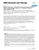 """Báo cáo y học: """"Baseline resistance to nucleoside reverse transcriptase inhibitors fails to predict virologic response to combination therapy in children (PACTG 33."""""""