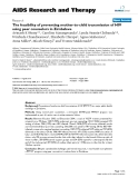 "Báo cáo y học: "" The feasibility of preventing mother-to-child transmission of HIV using peer counselors in Zimbabwe"""