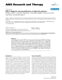 """Báo cáo y học: """" HIV-2 diagnosis and quantification in high-risk patients"""""""