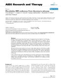 """Báo cáo y học: """"Microbicides 2008 conference: From discovery to advocacy"""""""